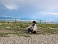 MEDITATING NEAR MANASAROVAR LAKE